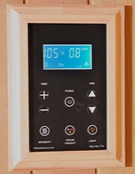 Infrared Sauna Control Panel Temperature Setting